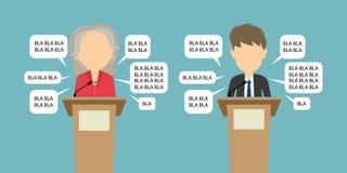 Two speakers debate. Royalty Free Stock Image