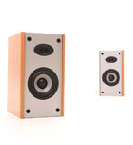Two speakers in perspective Royalty Free Stock Photos