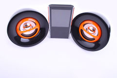 Two speakers and player Royalty Free Stock Photography