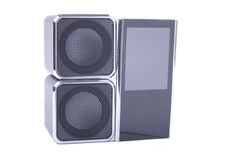 Two speakers and player Stock Photography