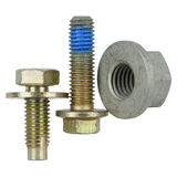 Two special bolts and one nut Stock Image