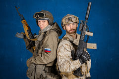 Two special force soldiers Royalty Free Stock Photography