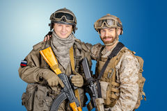 Two special force soldiers Royalty Free Stock Photo