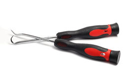 Two specialized awl with black handles Stock Photos