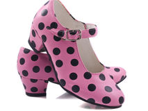 Two speckles shoes Stock Image