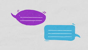 Two Speech bubble text bar, illustration drawing style. Speech bubble text bar, illustration drawing style stock video