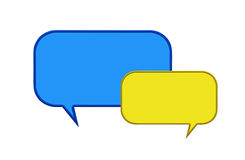 Two speech bubbles Royalty Free Stock Image