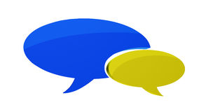 Two speech bubbles Royalty Free Stock Photo