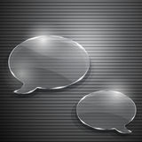 Two speech bubbles from glass Royalty Free Stock Photos