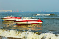 Two speed boats Stock Photography