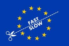 Two-speed Eeuropean-unie Stock Foto's