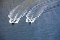 Two speedboats Stock Photography