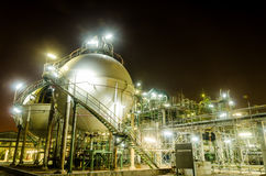 Two sphere tank gas petrochemical industry Stock Image