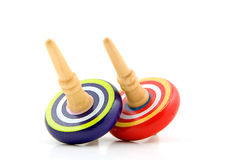 Two spinning tops Royalty Free Stock Photo
