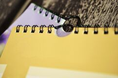 Two spiral bound notebooks Stock Photography