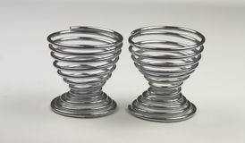 Two spiral metal egg cups Stock Photography