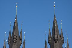 Two spires Stock Image