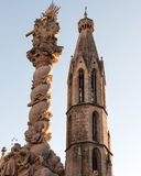 Two Spires, Sopron, Hungary Royalty Free Stock Photography