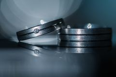 Two splendid wedding rings. On a wedding day Royalty Free Stock Photography