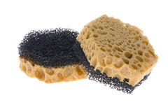 Two sponge on white. Object on white - kitchen tool sponge royalty free stock image
