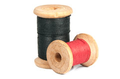 Two spools of thread. On white background Stock Photography