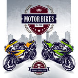 Two sport motorbikes Stock Photography