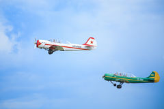 Two sport planes Royalty Free Stock Photo