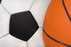 Two sports balls Royalty Free Stock Photography