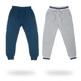 Two sports pants for boys isolated Royalty Free Stock Image