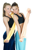 Two sports woman Royalty Free Stock Photography