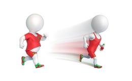 Two sportsmen running Stock Photography