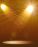 Two spotlights Royalty Free Stock Image