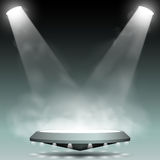 Two spotlights with fog effect Stock Photos