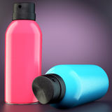 Two spray cans Royalty Free Stock Photos
