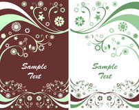 Two spring flyers or floral backgrounds Royalty Free Stock Images