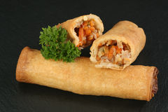 Two spring rolls Royalty Free Stock Images