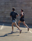 Two sprinter men Royalty Free Stock Photo