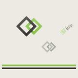 Two squares logo Stock Photos