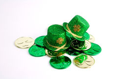 Two St. Patrick's Day hats. On a white background Royalty Free Stock Image