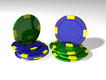 Two stack poker chips Stock Photo