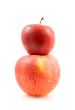 Two stacked apples Royalty Free Stock Photo