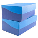 Two Stacked Shoe Boxes Stock Photos