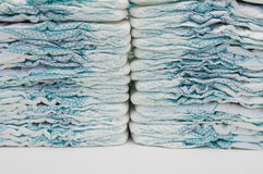 Two stacks of baby diapers texture Royalty Free Stock Photo