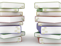 Two stacks of books Stock Images