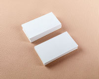 Two stacks of business cards Royalty Free Stock Photography