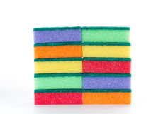 Two stacks of cleaning sponges Stock Photos