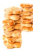 Two stacks of cookies Stock Images