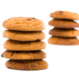 Two stacks of cookies Stock Image