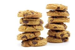 Two stacks of cookies Royalty Free Stock Photography