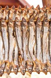 Two stacks of dried fish Stock Photos